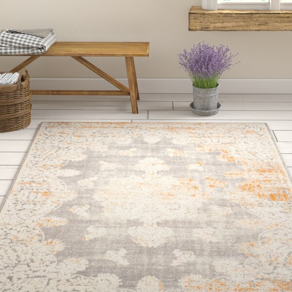 Auguste Gray/Ivory Area Rug by One Allium Way