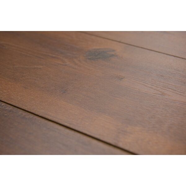 Geneva 8.5 x 48 x 12mm Hickory Laminate Flooring in  Medium Brown by Branton Flooring Collection