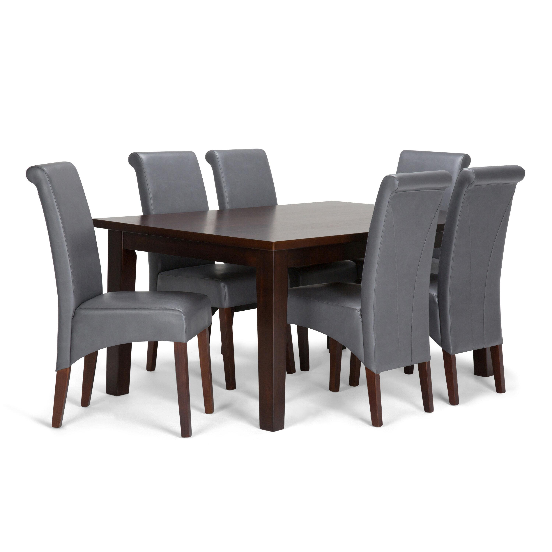 Simpli Home Avalon 7 Piece Dining Set | Wayfair on