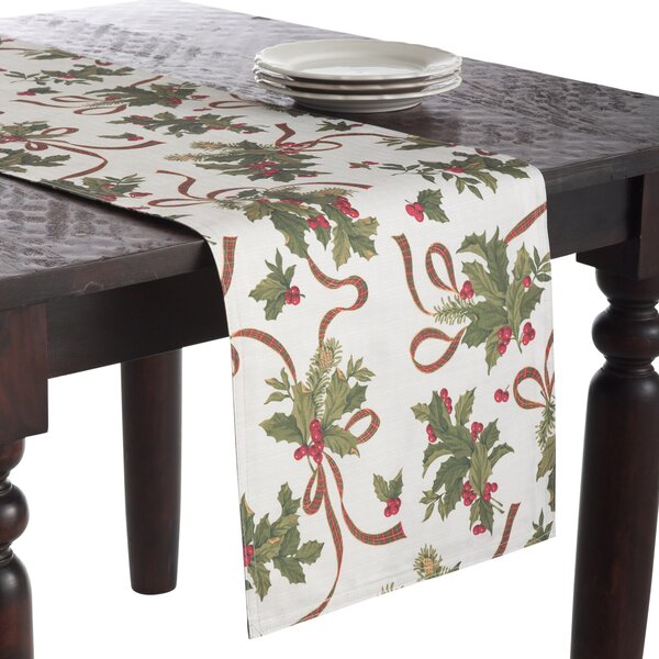 Reversible Holly Runner by The Holiday Aisle