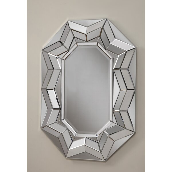 Beveled Oval Wall Mirror by Best Quality Furniture