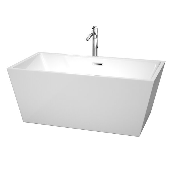 Sara 59 x 31.5 Soaking Bathtub by Wyndham Collection