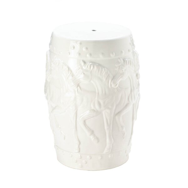 Askew Horses Ceramic Garden Stool by Charlton Home