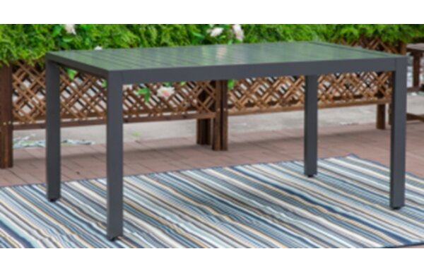 Masam Patio Aluminum Dining Table by Latitude Run