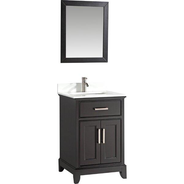 Cloran 24 Single Bathroom Vanity Set with Mirror by Gracie Oaks