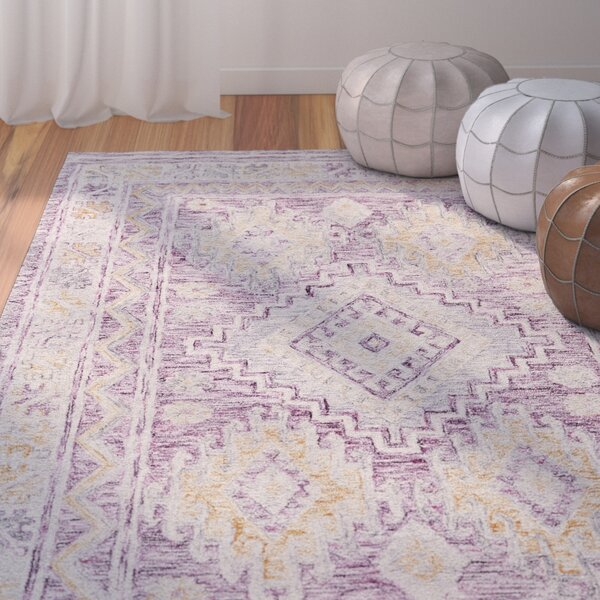 Carlotta Hand-Tufted Purple Area Rug by Bungalow Rose