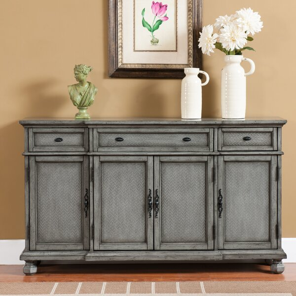August Grove Giulia 3 Drawer Credenza Amp Reviews Wayfair