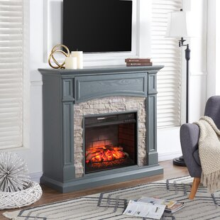 Faux Stone Electric Fireplace   Wayfair
