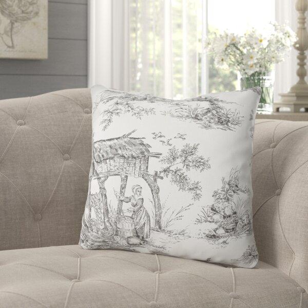 Calabro Farm Toile Decorative Indoor/Outdoor Cotton Throw Pillow (Set of 2)