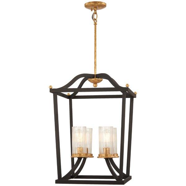 Helmer 4 - Light Lantern Geometric Chandelier by Alcott Hill Alcott Hill