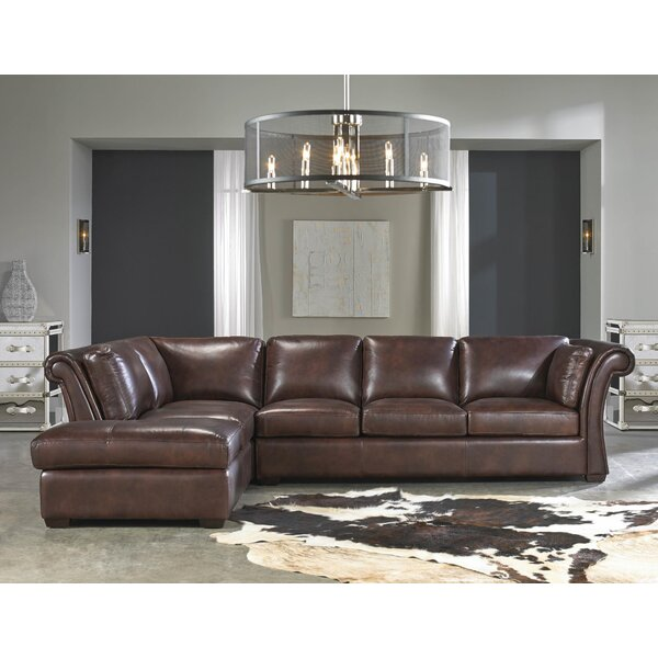 Angelina Leather Sectional by Lazzaro Leather