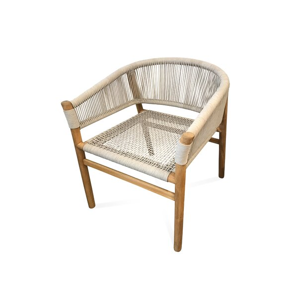 Barbara Teak Patio Dining Chair by Bungalow Rose