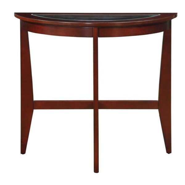 Review Mullaney Half Moon Console Table