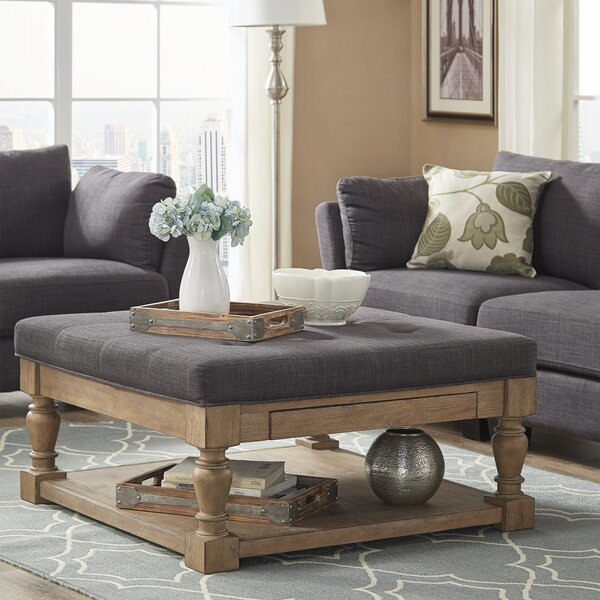 Back East Tufted Cocktail Ottoman by Three Posts