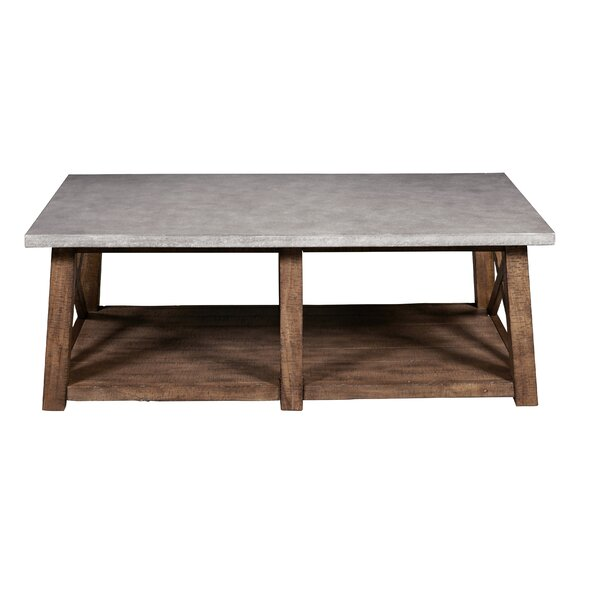 Meredith Solid Wood Cross Legs Coffee Table with Storage by Laurel Foundry Modern Farmhouse Laurel Foundry Modern Farmhouse