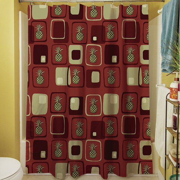 Deco Pineapple Shower Curtain by Manual Woodworkers & Weavers