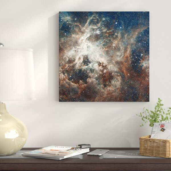 Prolific Star-Forming Region, 30 Doradus (Tarantula Nebula) (Hubble Space Telescope 22nd Anniversary Image) Graphic Art on Wrapped Canvas by East Urban Home