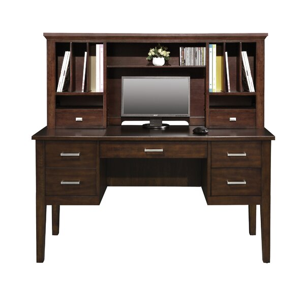 Eaton Computer Desk with Hutch by Darby Home Co