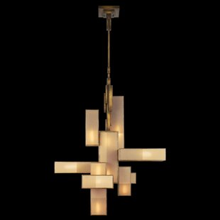 Perspectives 12-Light Geometric Chandelier by Fine Art Lamps