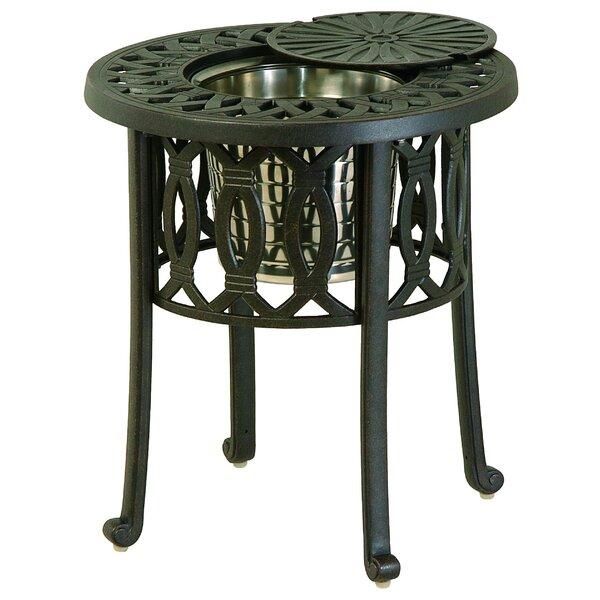 Merlyn Metal Chat Table by Fleur De Lis Living