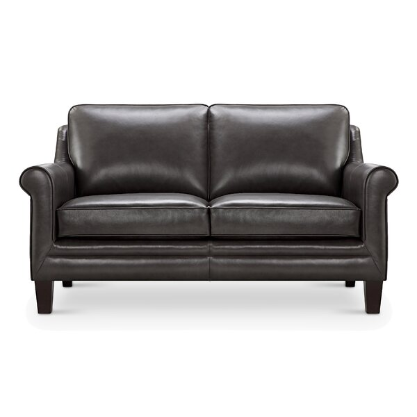 Top Of The Line Corby Leather Loveseat by 17 Stories by 17 Stories