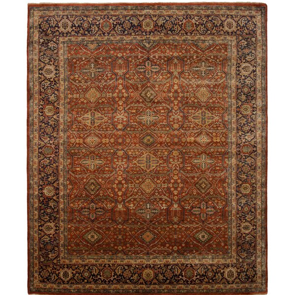 Cambridge Hand-Knotted Red Area Rug by Shalom Brothers
