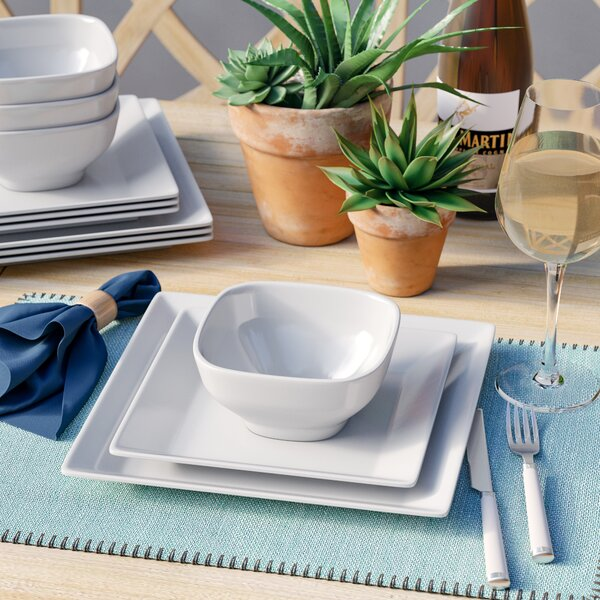 Merilyn Melamine 12 Piece Dinnerware Set, Service For 4 By Mint Pantry