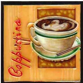 Cappuccino Tile Wall Decor by Continental Art Center