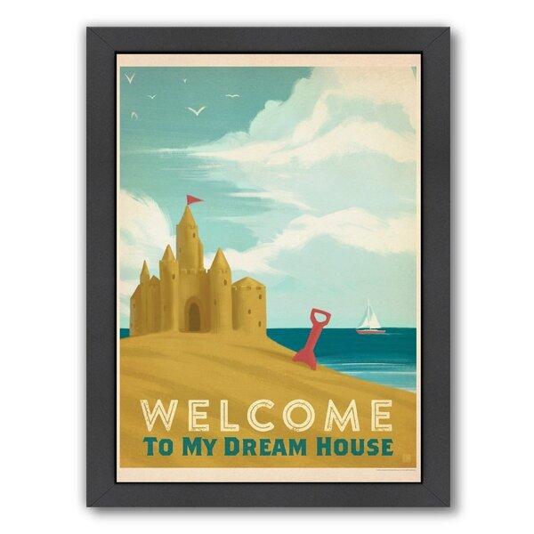 Sand Castle Framed Vintage Advertisement by East Urban Home