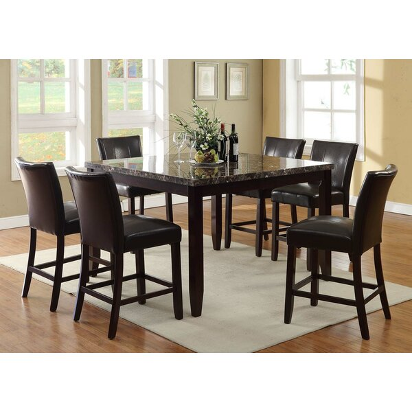 Heneghan 7 Piece Counter Height Dining Set by Winston Porter