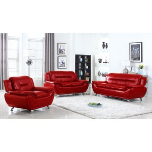 Sather 3 Piece Living Room Set by Latitude Run®