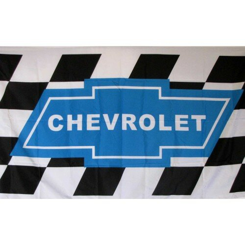 Chevrolet Racing with Checkers Polyester 3 x 5 ft. Flag by NeoPlex