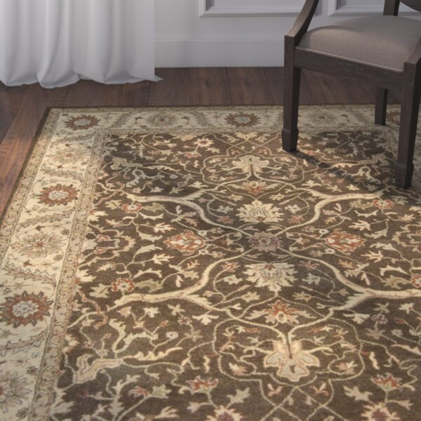 Fritsch Hand Tufted Brown/Beige Area Rug by Darby Home Co