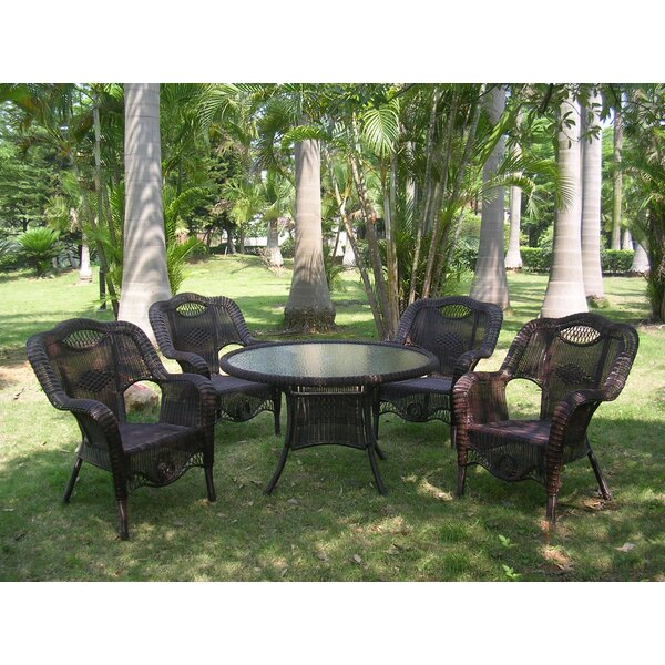 Staple Hill 5 Piece Patio Dining Set by Charlton Home