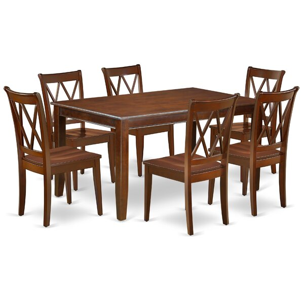Konieczny 7 Piece Solid Wood Dining Set by August Grove