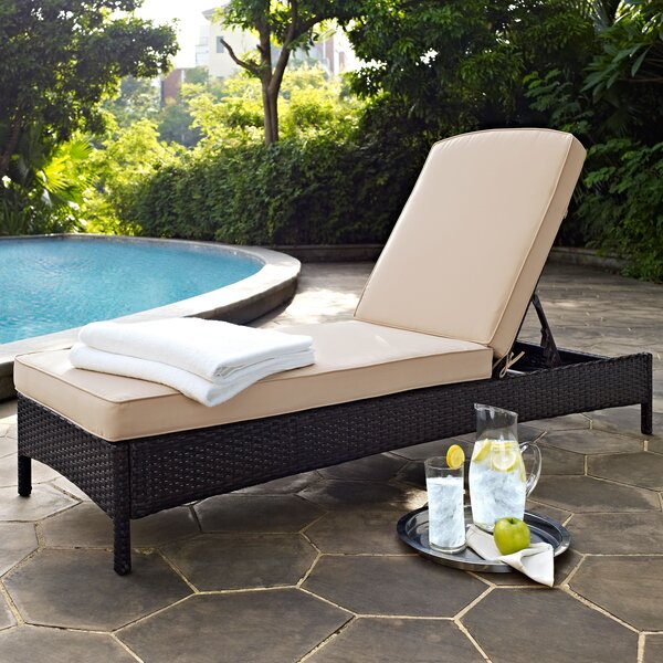 Belton Chaise Lounge with Cushion by Mercury Row