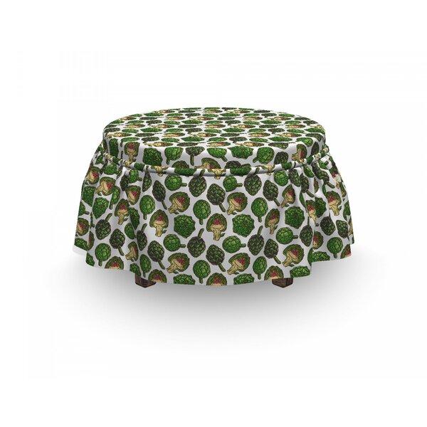 Artichoke Healthy Foods Natural 2 Piece Box Cushion Ottoman Slipcover Set By East Urban Home