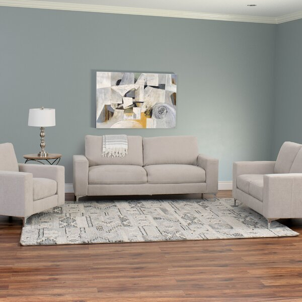 Hermia 3 Piece Living Room Set by Orren Ellis