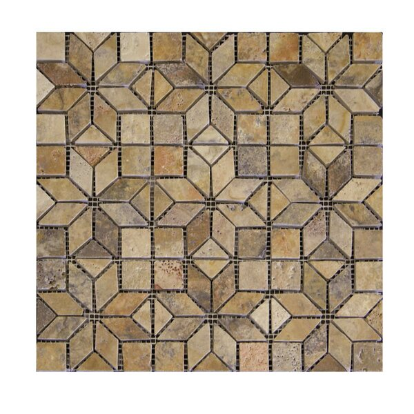 Enigma Tumbled Natural Stone Mosaic Tile in Fantastico by QDI Surfaces