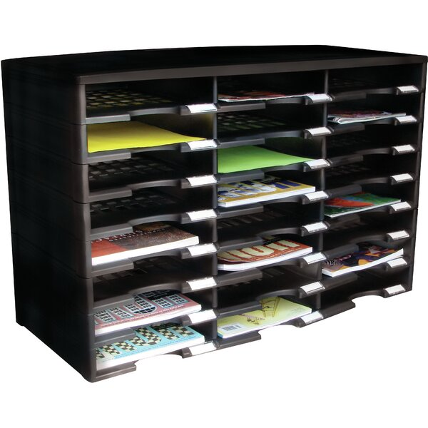 24 Compartment Literature Organizer By Storex.