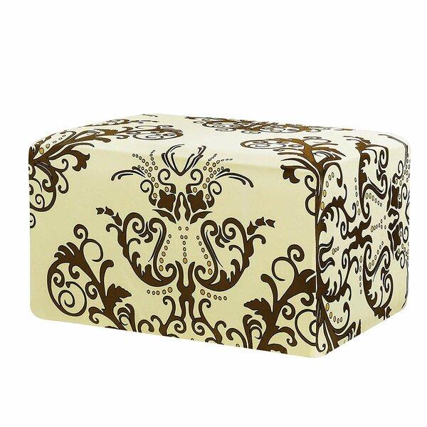Printed Rectangle Box Cushion Ottoman Slipcover By Fleur De Lis Living