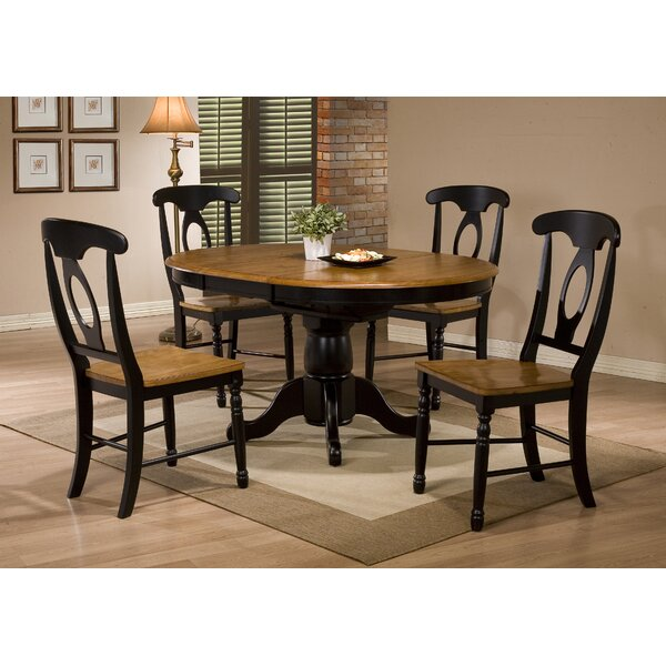 Courtdale 5 Piece Solid Wood Extendable Dining Set by Three Posts