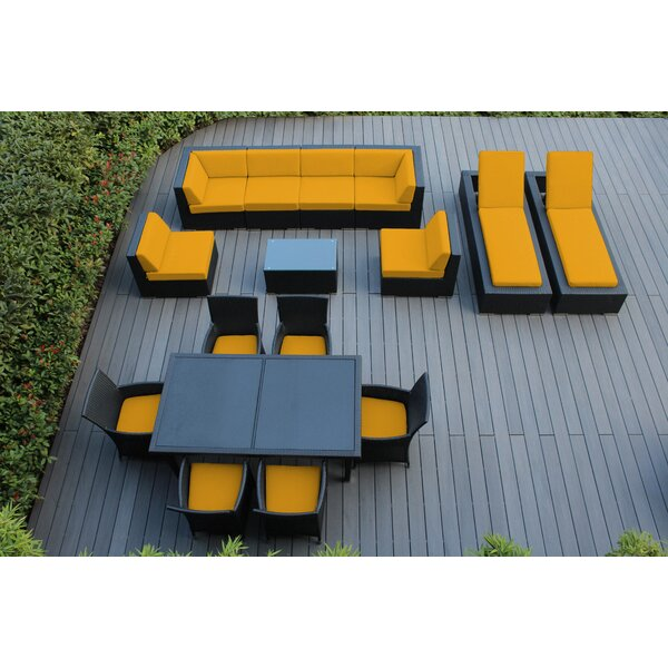 Ohana 16 Piece Rattan Complete Patio Set with Sunbrella Cushions by Ohana Depot