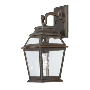 Deals Crossroads Point 1-Light Outdoor Wall Lantern By Great Outdoors by Minka