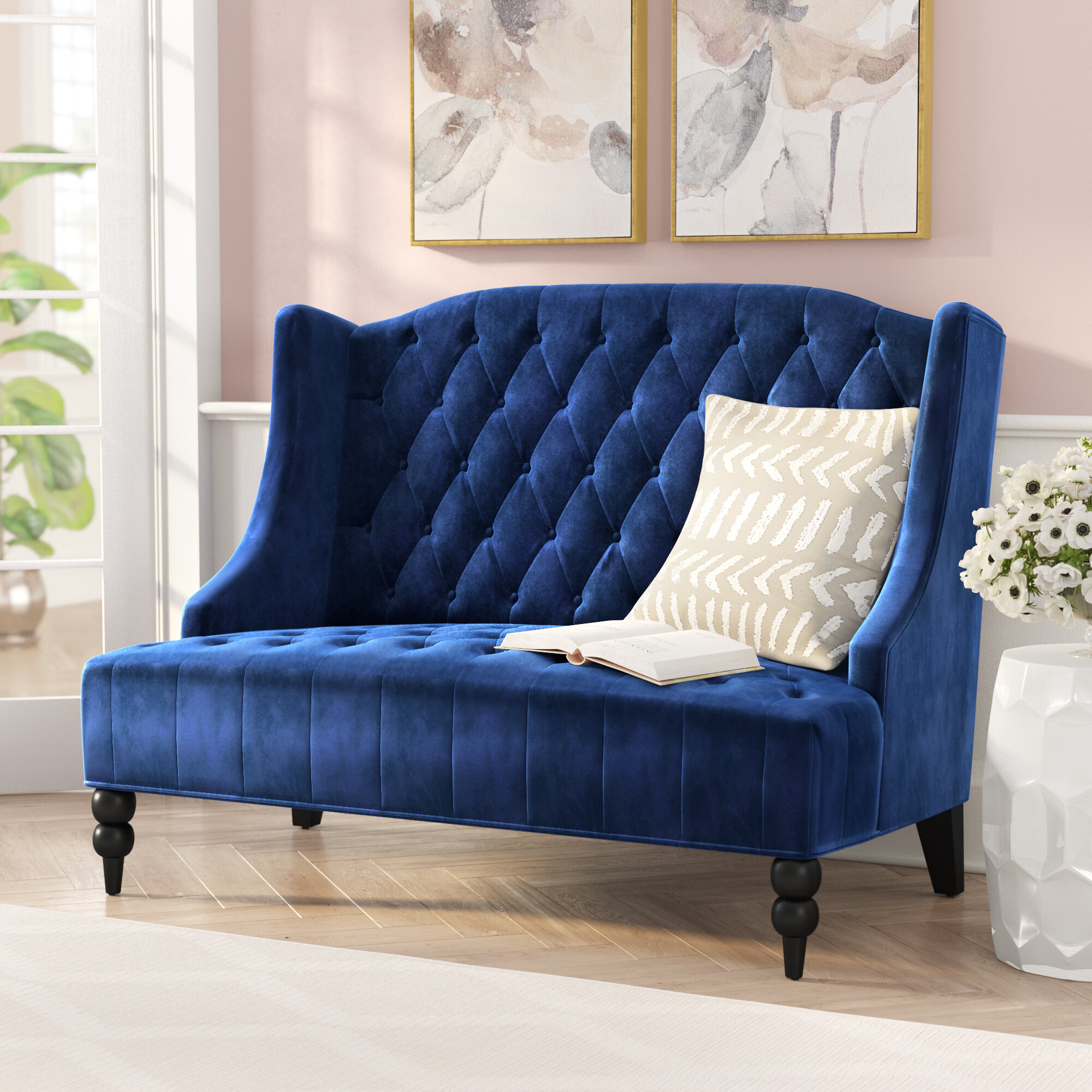 teal ava loveseat velvet at room and chairs sofas sofa loveseats green designs oversized bedroom living images tufted
