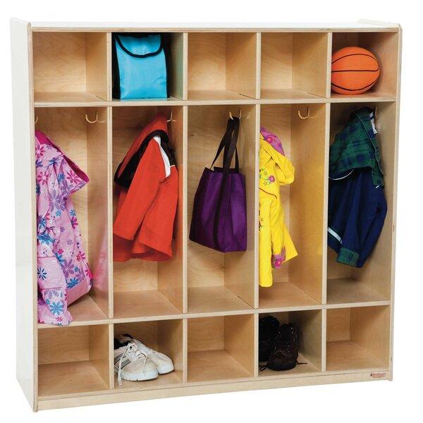 5 Section Coat Locker by Wood Designs