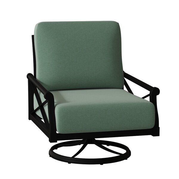 Andover Swivel Rocking Chair with Cushions by Woodard