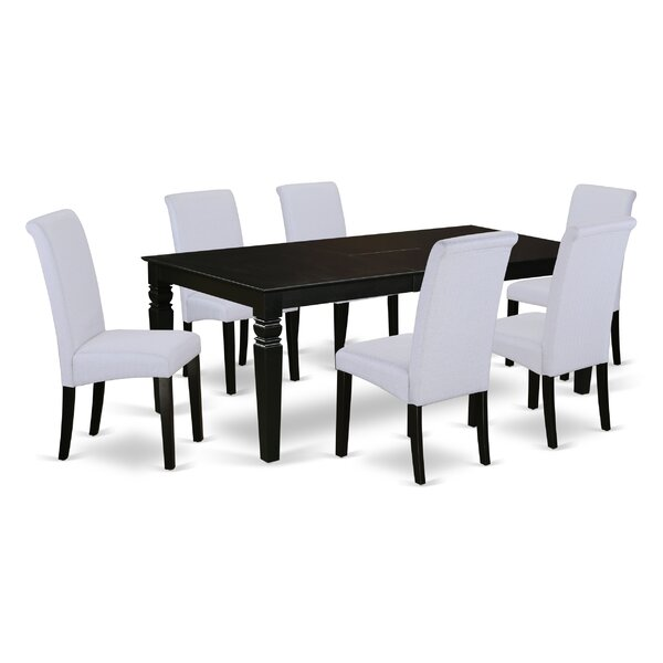 Parada Table 7 Piece Extendable Solid Wood Dining Set by Charlton Home
