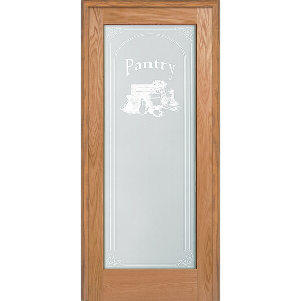Pantry Wood 1-Panel Red Oak Interior French Door by Verona Home Design