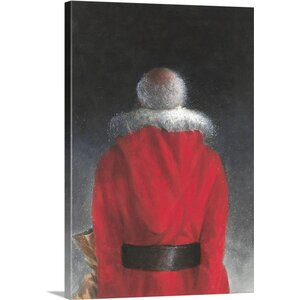 'Man in Red Coat, 2004' by Lincoln Seligman Painting Print on Canvas by Great Big Canvas